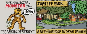 Jubilee Park-ers Know How To Get Readers' Attention: With An Action-Packed Comic Strip!