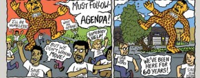 Jubilee Park residents fight DISD with comic strip